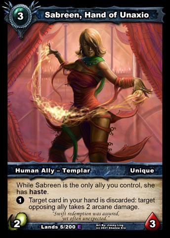 Sabreen, Hand of Unaxio